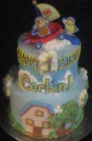1st birthday cake w/kid show theme