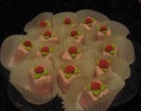 Red Rose Petit Fours