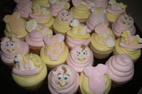 Baby Shower Cupcakes (closeup)