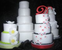 Mini Tiered Cakes (front view)
