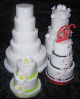 Mini Tiered Cakes (top angle view)