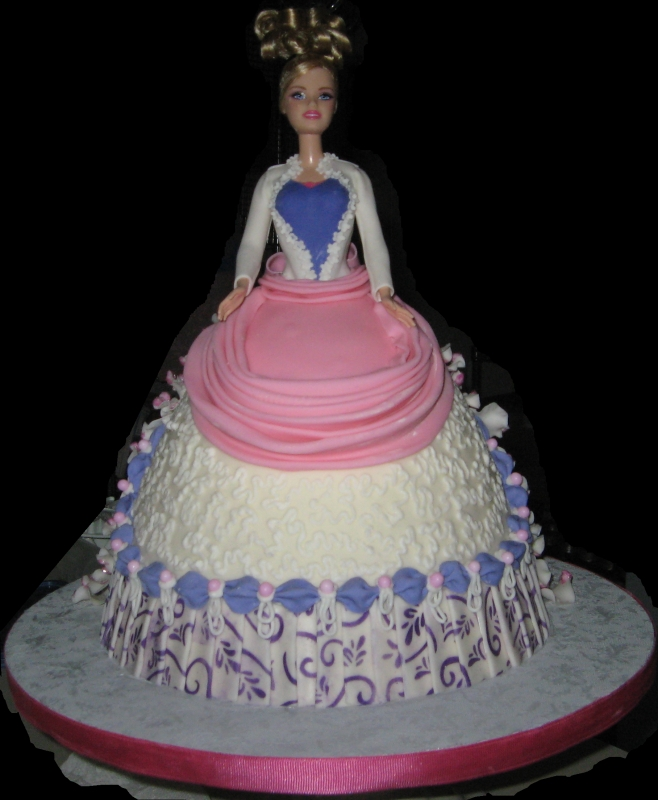 Doll Dress Cake-front