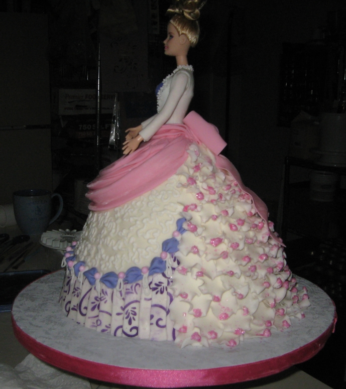 Doll Dress Cake-side