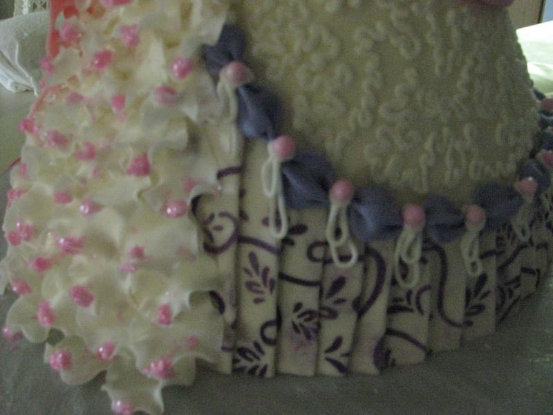 Doll Dress Cake-up close