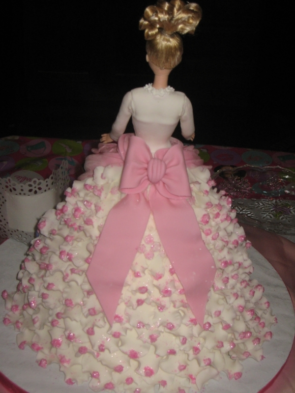 Doll Dress Cake-back-ruffles