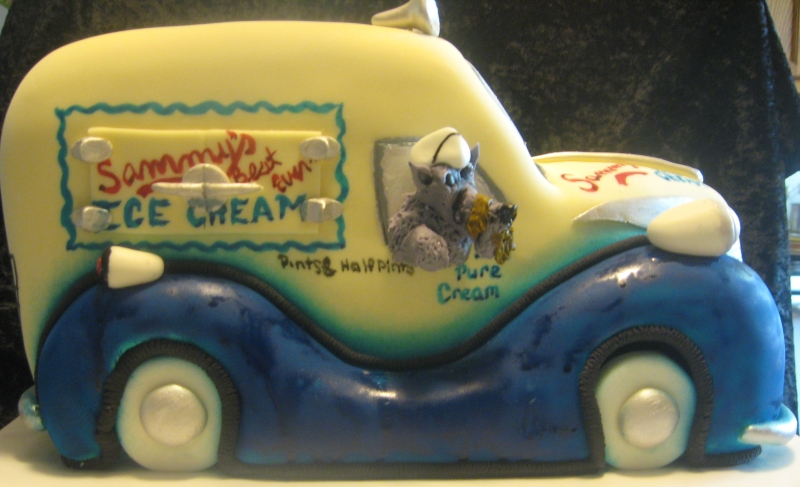 Ice Cream Truck Cake (side view)