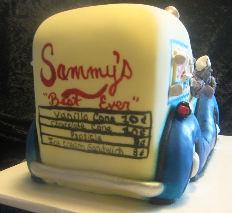 Ice Cream Truck Cake (rear view)